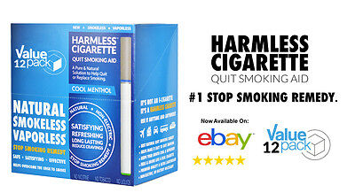 BEST VALUE / Harmless Cigarette Natural Quit Smoking Aid -Cool Menthol (12 (Best Quit Smoking Aid)