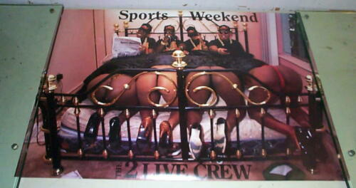 2 LIVE CREW Sports Weekend Vintage POSTER ONLY ONE