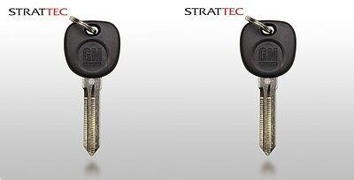 New GM OEM Transponder Ignition Key Uncut Blade Blank Car Key 2 Pack Chevy GMC - Gm Transponder Key