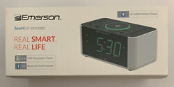 Emerson Alarm Clock Radio and QI Wireless Phone Charger with Bluetooth
