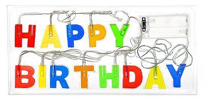 1 x Lichterketten Lichterkette Happy Birthday 2 m LED Geburtstag Girlande