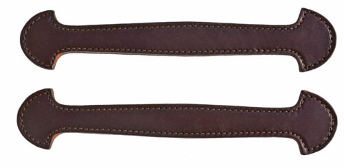 Lot of 2 Havana Leather Double & Stitched Steamer Trunk Handles #101HAV