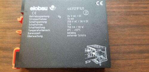 ELOBAU 463121F1U1 SAFETY CONTROL UNIT RELAY UIC p/n 47549101 ss by 53434301
