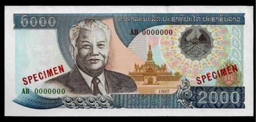 Laos 2000 Kip 1997 SPECIMEN UNC