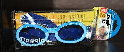 NEW DOGGLES ILS~ SIZE  SMALL ~SHINY BLUE FRAME~ BLUE LENS~ FREE SHIPPING