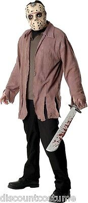 JASON VOORHEES FRIDAY THE 13TH ADULT HALLOWEEN COSTUME MEN'S SIZE X-LARGE