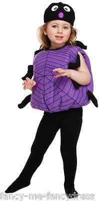 Mädchen Jungen Spinne Tier Mini Biest Halloween Kostüm Kleid Outfit 3 (Jungen Spinne Kostüme)
