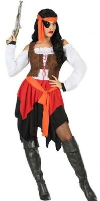 Costume Woman Pirate XS/S 36/38 Adult Buccaneer Capri Pants New Cheap](Cheap Womens Pirate Costume)