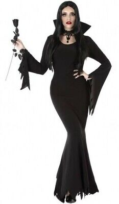 Déguisement Femme MORTICIA Noir XL 44 Film Cinéma Addams Halloween NEUF