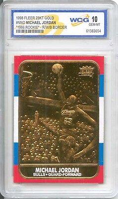 1986 MICHAEL JORDAN Fleer ROOKIE Card (Special Edition Gold)  Gem-Mint 10 *RARE*