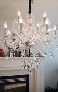 Crystal Chandelier 12 lights | Lustre en cristal 12 lumiers
