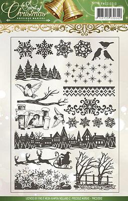 Motiv-Stempel Clear stamps Spirit Christmas Weihnacht Precious Marieke PMCS10012