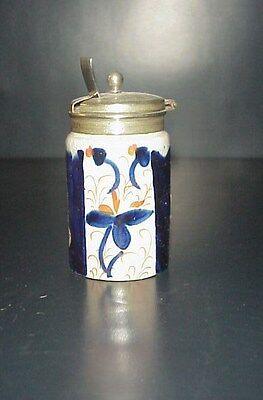 Antique Imari Condiment Jar Hand Painted
