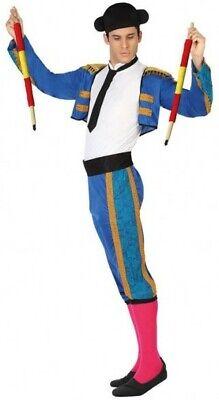 Déguisement Homme TORERO Bleu M/L Costume Adulte Matador Espagnol NEUF - Torero Costume