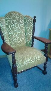 Antique Arm Chair with carved legs and frame