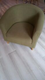 Beautiful Pistachio Green Tub Chair For Sale