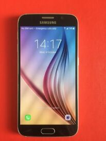 Samsung Galaxy S6 (SM-G920F) 32GB UNLOCKED. Perfect Working Order.