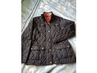 Ladies Barbour Quilted Printed Utility Jacket size 10