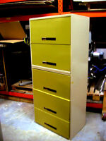 Five Drawer legal size file cabinet.