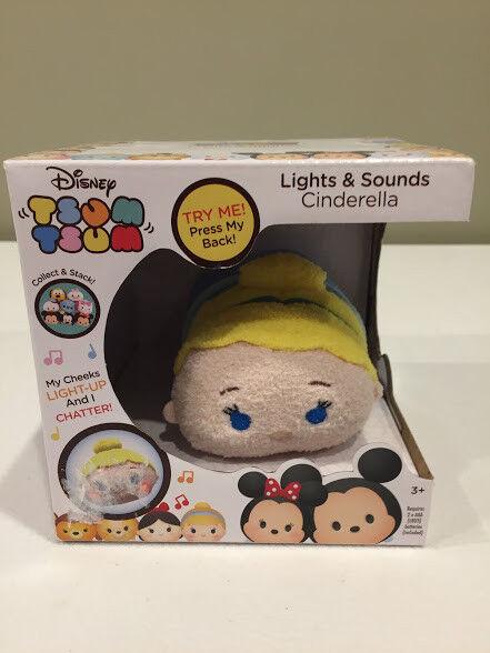Disney Tsum Tsum Cinderella Lights And Sounds Chatter Plush