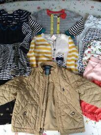 Bundle of girls clothes, 12 - 24 months, including Ralph Lauren jacket