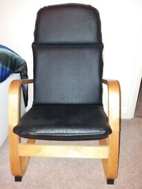 Leather upholstered child's chair