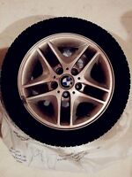 4 BMW Runflat Continental Winter Tires with Rims 205/55 R16