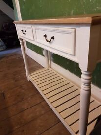 Console Shabby Chic Style Table for Kitchen, Dining Room or Hall Area