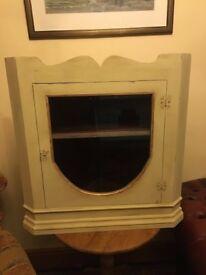 Vintage Solid Corner Cupboard - Shabby Chic - Seller Refurbished