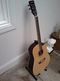 Semi acoustic professionally upgraded guitar - band new and boxed