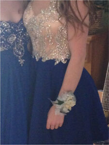 Blue sequinned semi or prom dress