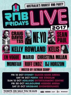 RnB Friday 2017 2X Tickets Available Premium GA Standing
