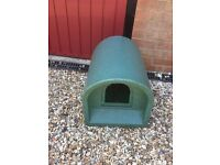 Green Outdoor Cat House