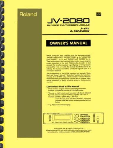 Roland JV-2080 Synthesizer Module OWNER