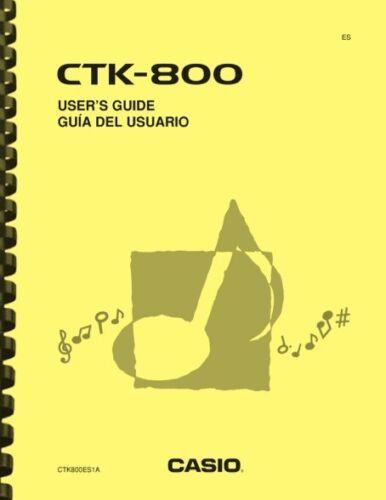 Casio CTK-800 Keyboard USER
