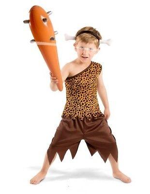 Steinzeit Urmensch Kostüm Kinder 3-teilig Höhlenmensch - Steinzeit Kostüm Kinder