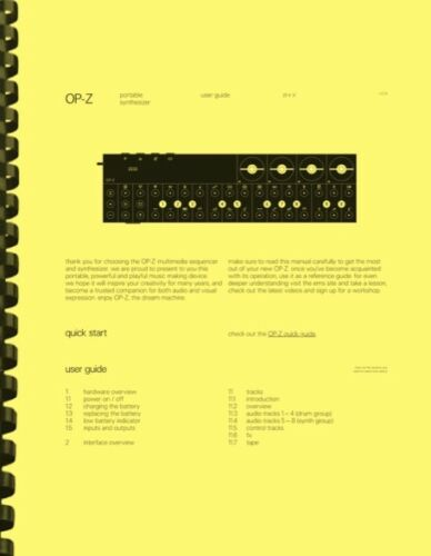 Teenage Engineering OP-Z Sequencer Synthesizer V.12.31 OWNER