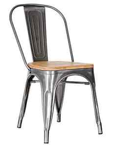 RESTAURANT TOLIX STYLE WOODEN SEAT BAR STOOL DINING CHAIR Peterborough Peterborough Area image 5