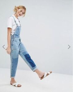Monki Patched Denim Overalls-Woman's