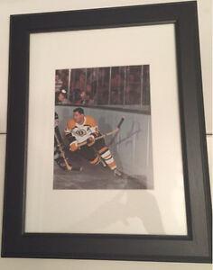 Johnny Bucyk Autographed Boston Bruins 8x10 photo framed