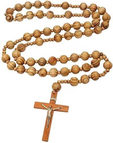 Giant Wood Rosary for Wall Decoration / Catholic / Regligious Gift / Baptism