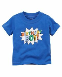 Carters Baby Boys Birthday Boy Tee 18 Months BLUE Shirt