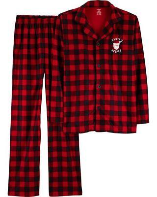 NWT Carters Adult Christmas Red Plaid Pajamas PJ Set Mom Dad Women Men Sz Small