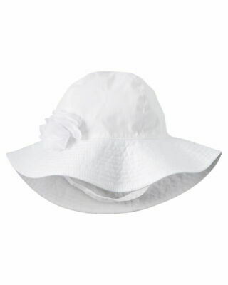 Carter's Baby Infant CHAMBRAY Bucket SUN Hat 12-24 mo, UPF 50+ WIDE BRIM -