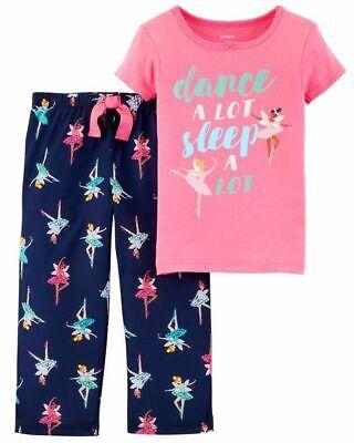 NWT Carter's 2 Pcs Toddler Girl Ballerina Short Sleeve Pajamas Set - Toddler Girl Pjs