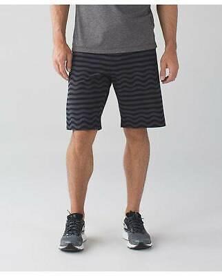 Lululemon Men's Pace Breaker Short SSSN Stripe Grey Black L