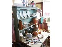 Farmhouse Display Shelves in classic sage hues