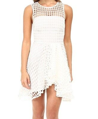 StyleStalker Dress Women's Size Large L Cage Piano Fit & Flare White NWT $190 - Piano Dress