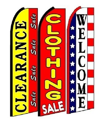 Clearance Sale Clothing Sale Welcome King Size Swooper Flag Pack of 3