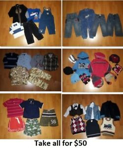 2T Boy Clothing Lot 3 (Take 38 Pieces for $50)